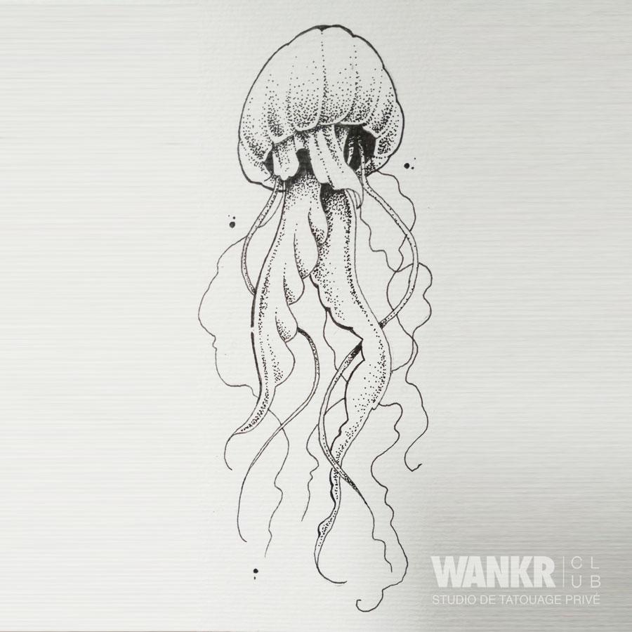 Meduse Wankr Club Tattoo