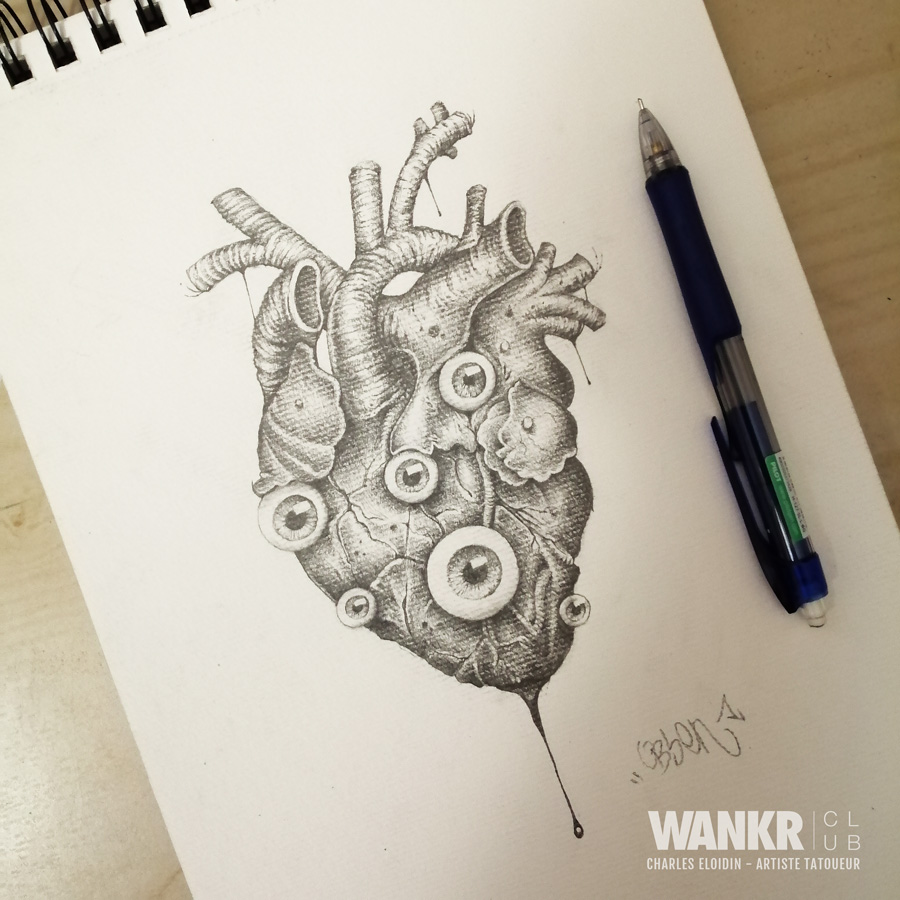 Coeur surréaliste - obsen tattoo