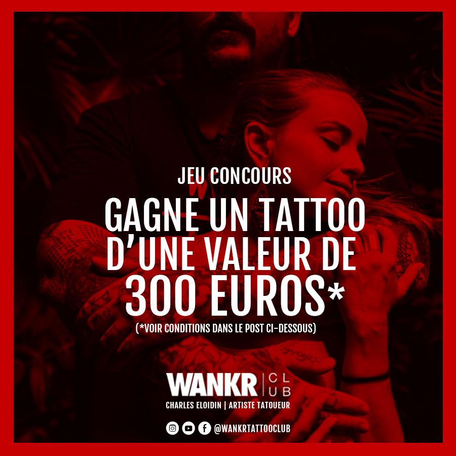 CONCOURS : gagne ton tattoo chez WANKR Club