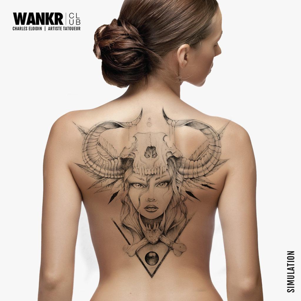 idée tattoo femme, dos