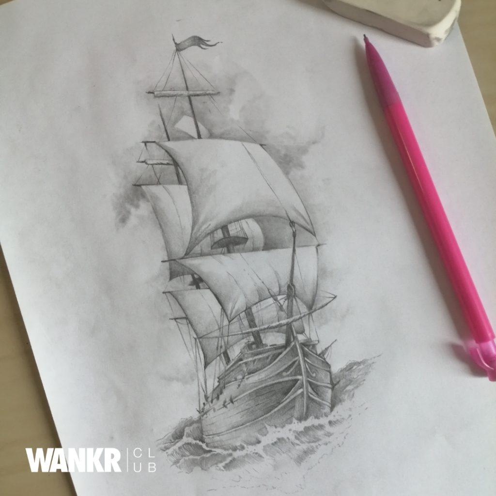 ship tattoo flash