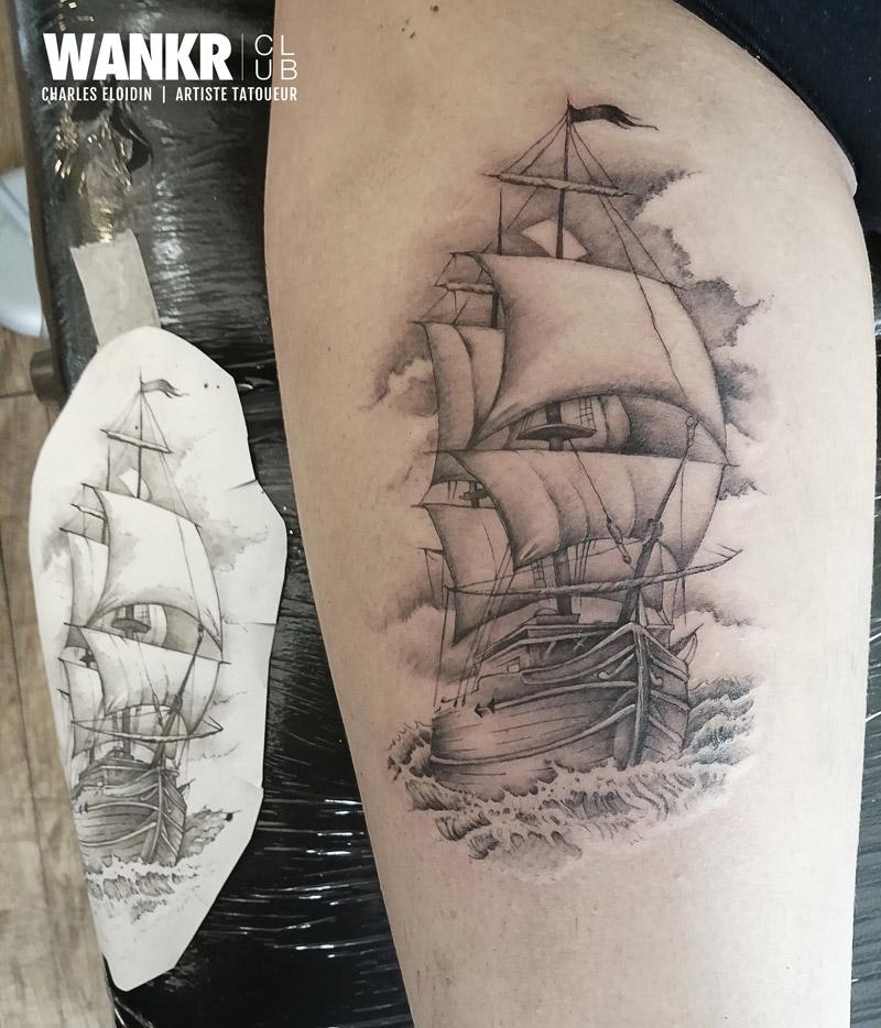 navire tatouage